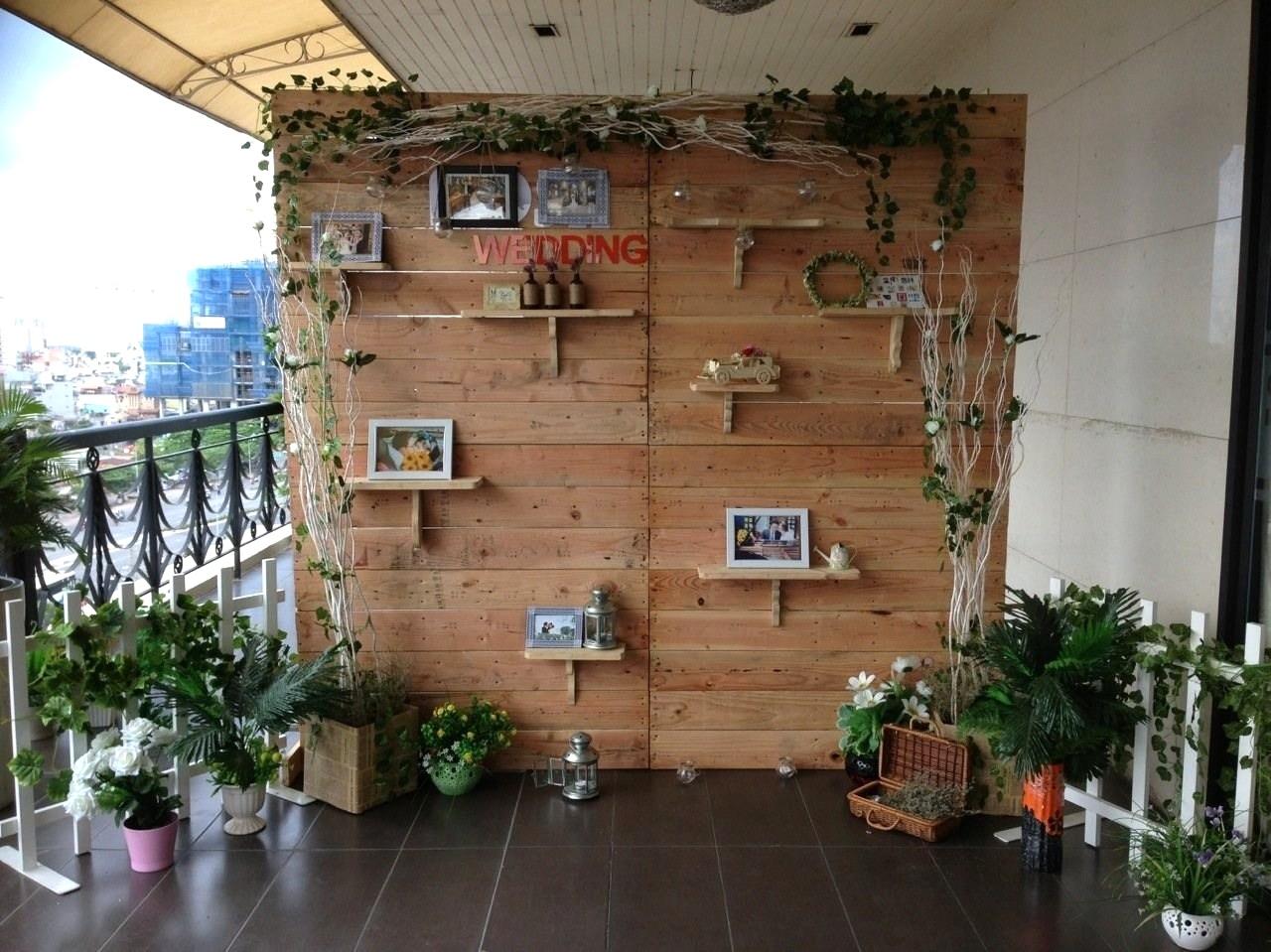 backdrop gỗ vintage
