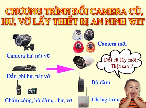 Đổi camera cũ lấy camera mới