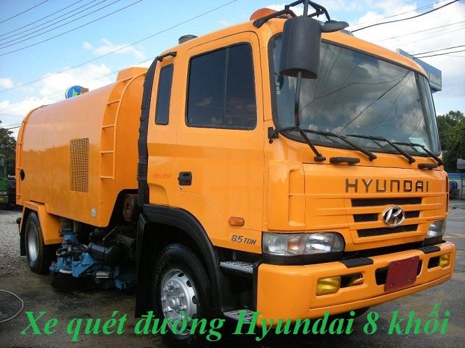Xe quet hut bui duong 8 khoi Hyundai