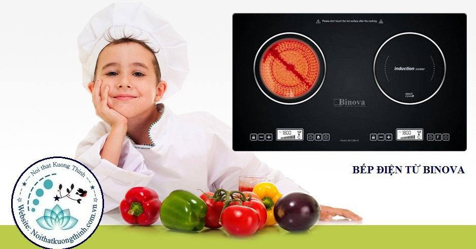 an toàn với bếp điện từ Binova
