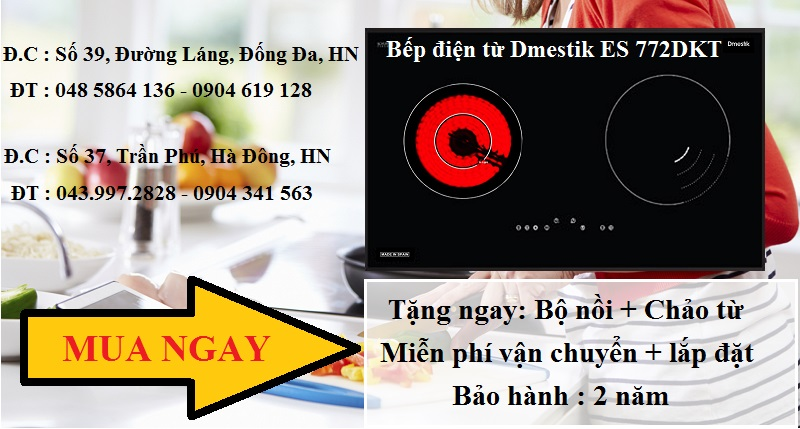 Bí quyết đun nấu bằng bếp điện từ Dmestik