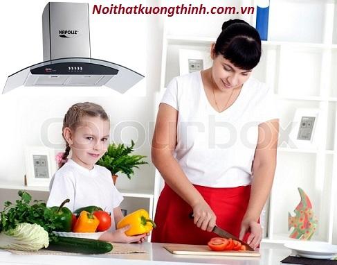 Máy hút mùi Napoliz mang lại không gian trong lành cho nhà bếp