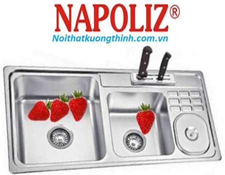 Chậu rửa bát Napoliz cho không gian bếp đẹp mọi góc nhìn