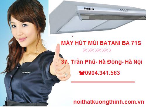 Đại lý cung cấp máy hút mùi Batani BA 71S uy tín
