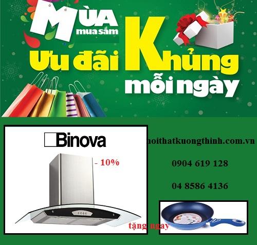 Giảm giá cực sốc khi mua máy hút mùi Binova