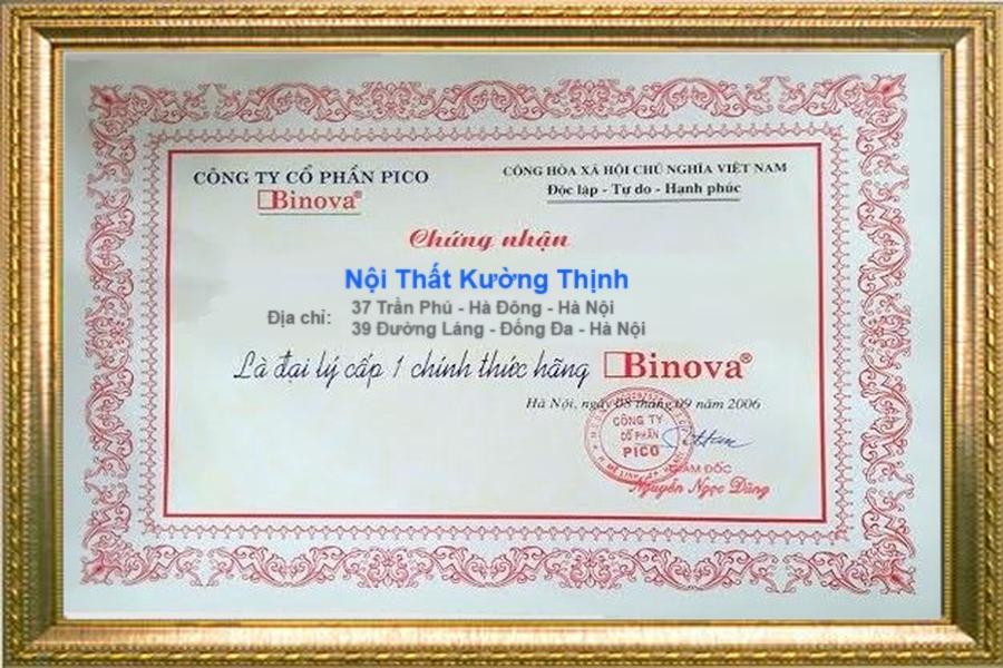 Binova chứng nhận Nội Thất Kường Thịnh