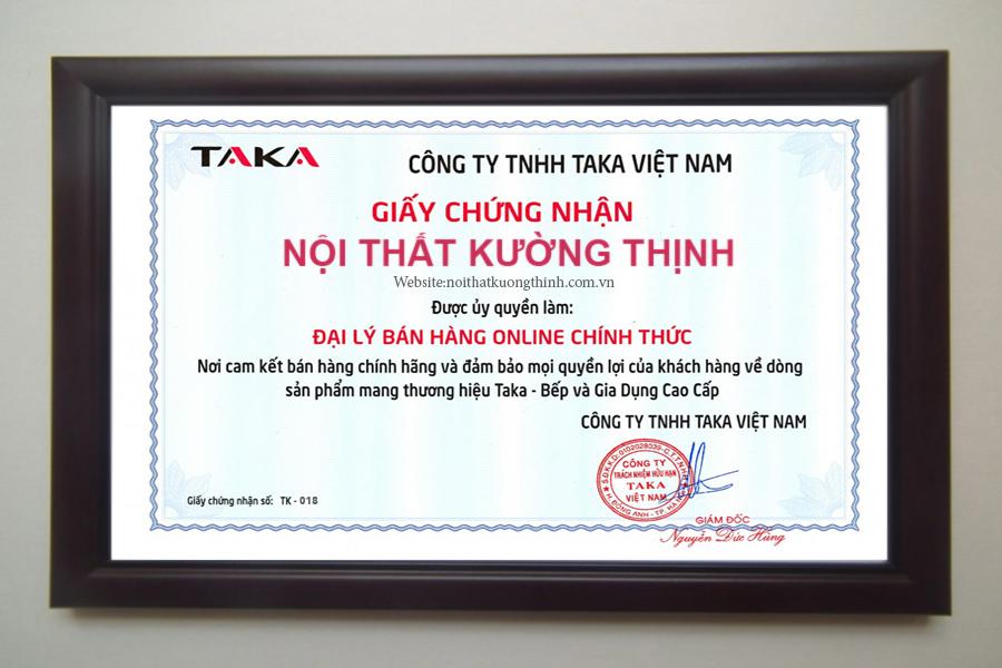 Taka chứng nhận Nội Thất Kường Thịnh