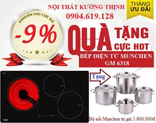 Khuyến mãi đặc biệt khi mua bếp điện từ Munchen GM 6318