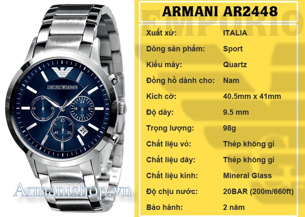 Đồng hồ Nam cao cấp hiệu Armani chính hãng AR2448 - Armanishop.vn