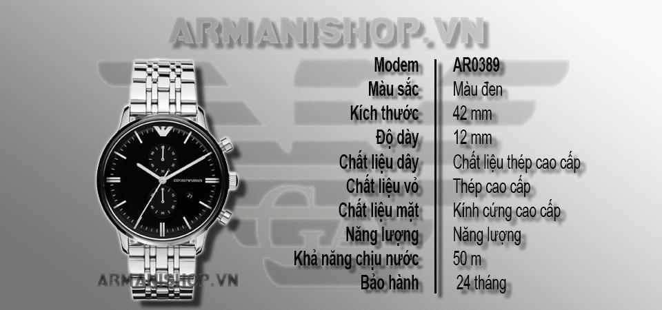 Đồng hồ Nam cao cấp hiệu Armani chính hãng AR0389 - Armanishop.vn
