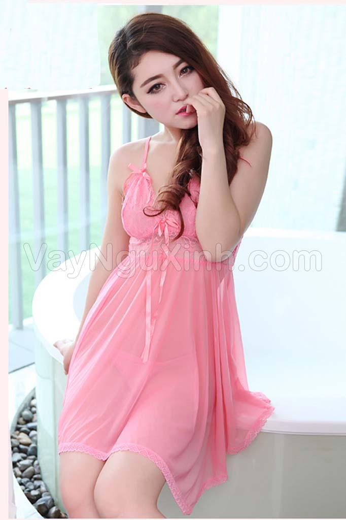 Váy Ngủ Cao Cấp Size Lớn 0540 Hồng