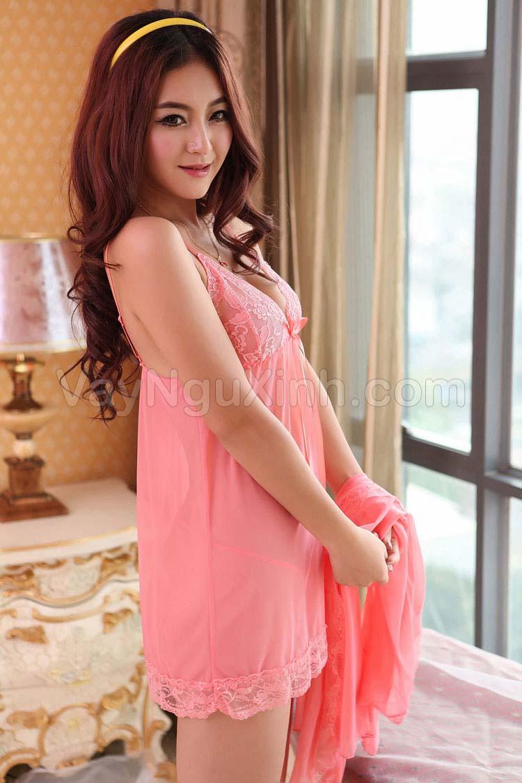 Nguyên Bộ Áo Choàng và Váy Cao Cấp Hồng Cam 0543