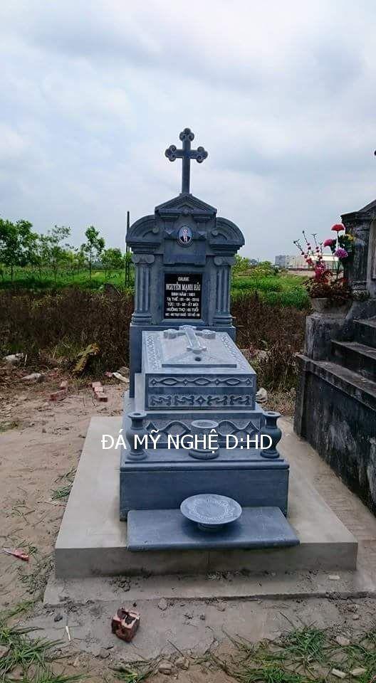 mộ công giáo đá khối13