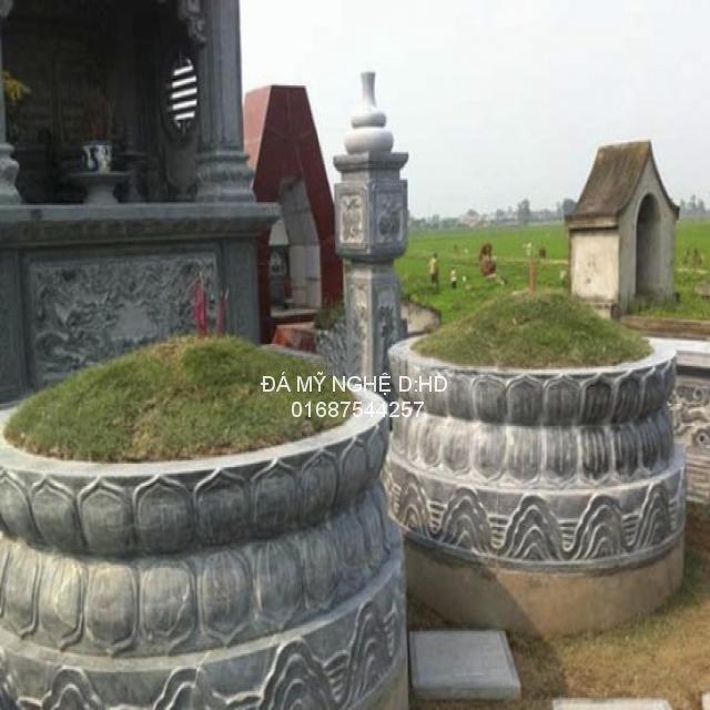 chi tiết mộ tròn