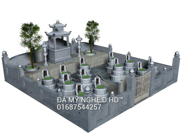 khu lăng mộ 3d