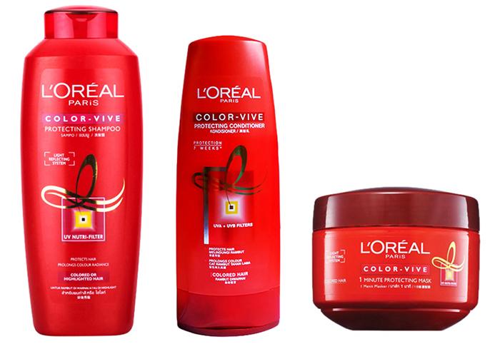 Bộ sản phẩm chăm sóc tóc nhuộm Loreal Color Vive (330ml x 170ml x 200ml) - L'oréal Pháp