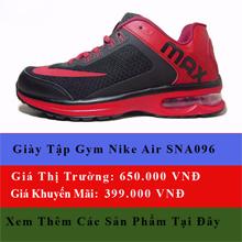 giày nike air đen đỏ