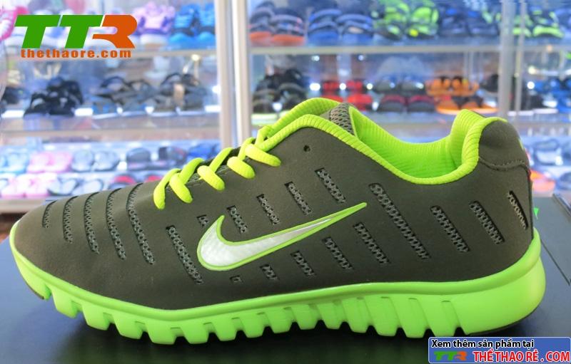 Giày Nike Super Light Xám Xanh Chuối NK87