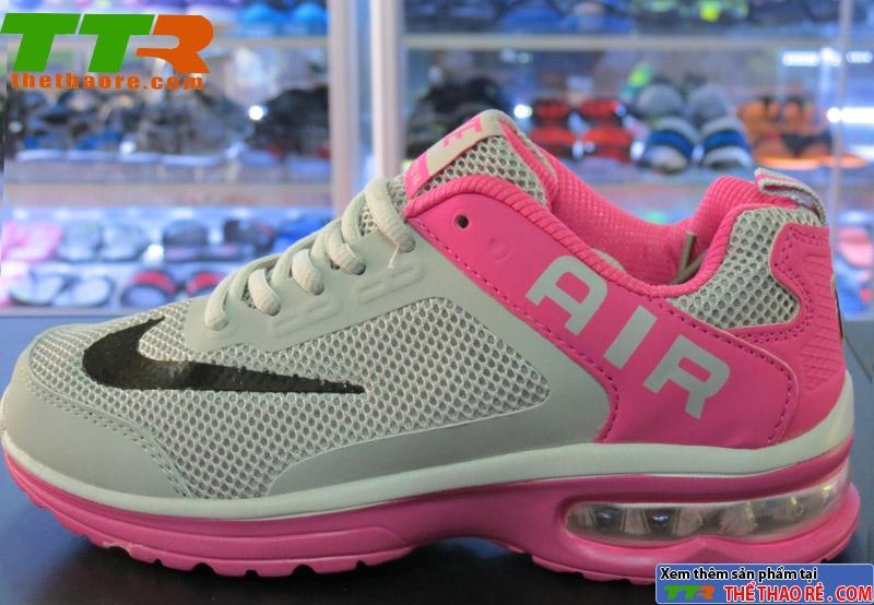 Giày Thể Thao Nữ Nike Air Xám Hồng NAN027