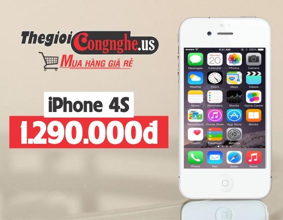 Ngất vì giá sập sàn - iPhone 4S chỉ còn 1.290.000đ