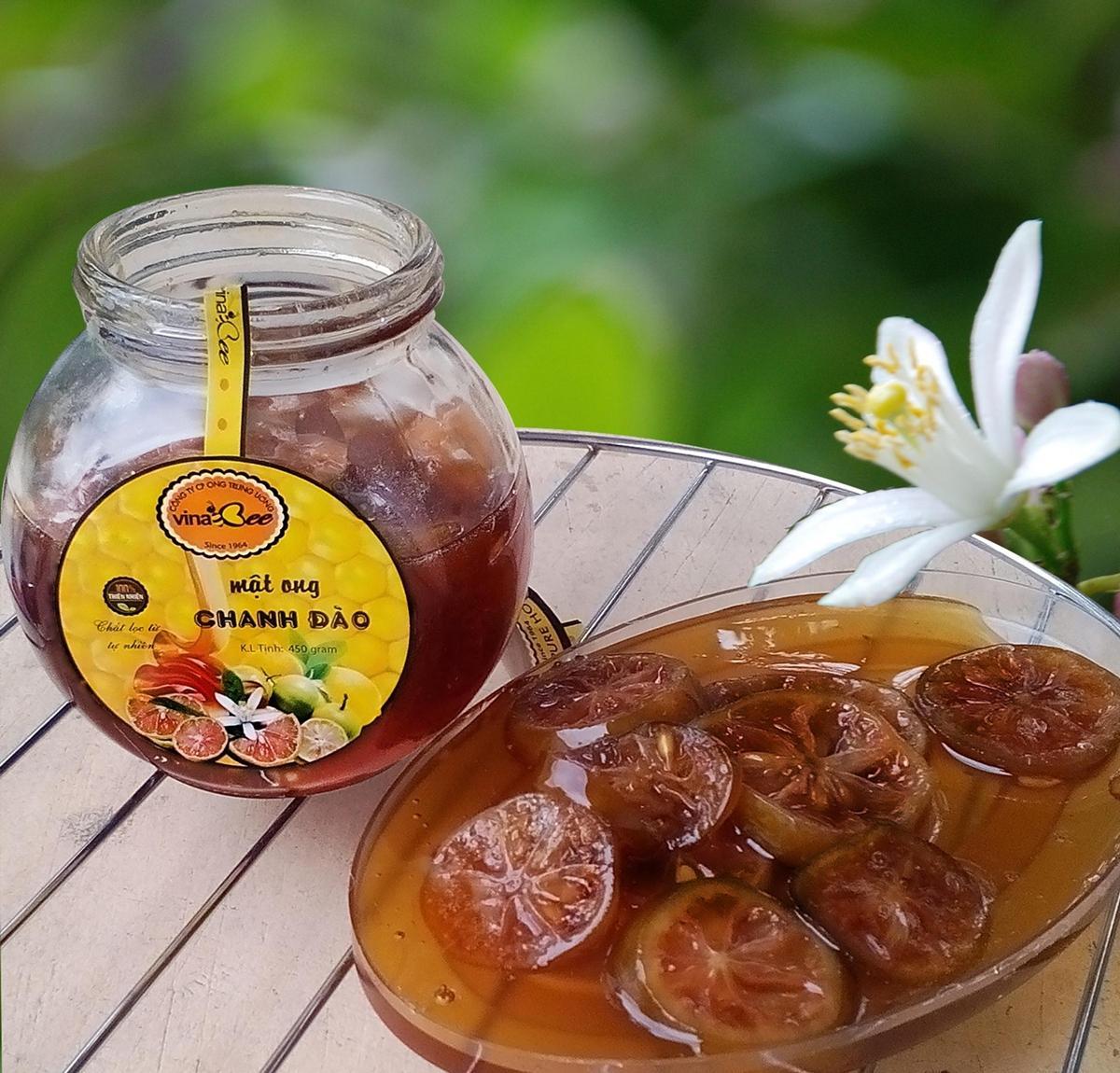 mật ong chanh đào vinapi