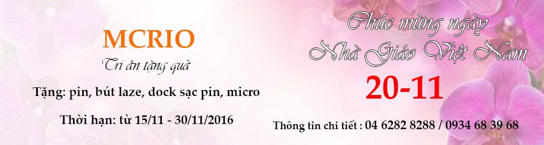 Khuyến mại 20-11-2016