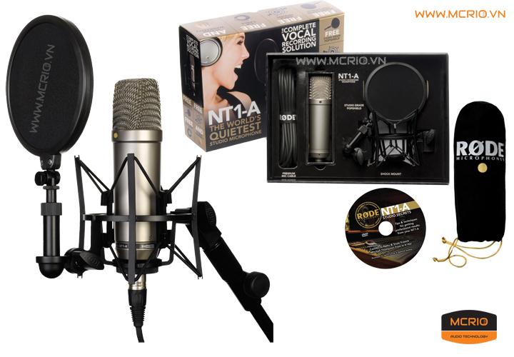 Micro thu âm Rode NT1-A – microphone chuyên nghiệp dành cho phòng thu