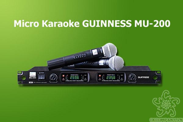 micro karaoke kh ng d y guinness mu 200. Black Bedroom Furniture Sets. Home Design Ideas