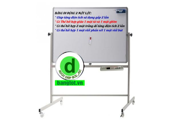 bảng di động 2 mặt trắng viết bút dạ