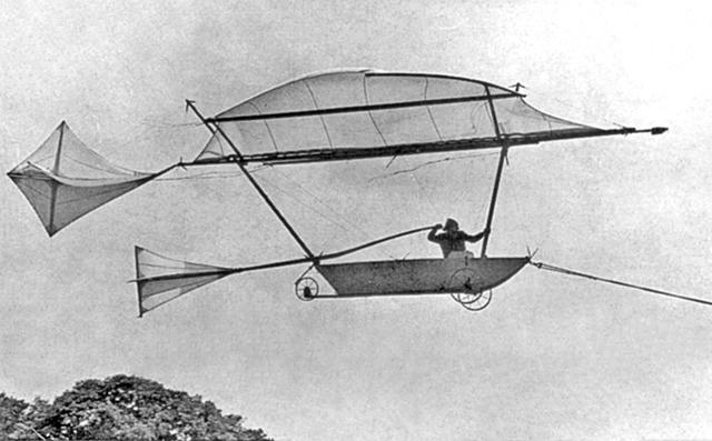 Chiếc tàu lượn của George Cayley được chế tạo và bay vào năm 1804