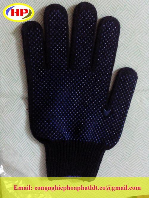 Găng tay phủ hạt nhựa pvc giá rẻ