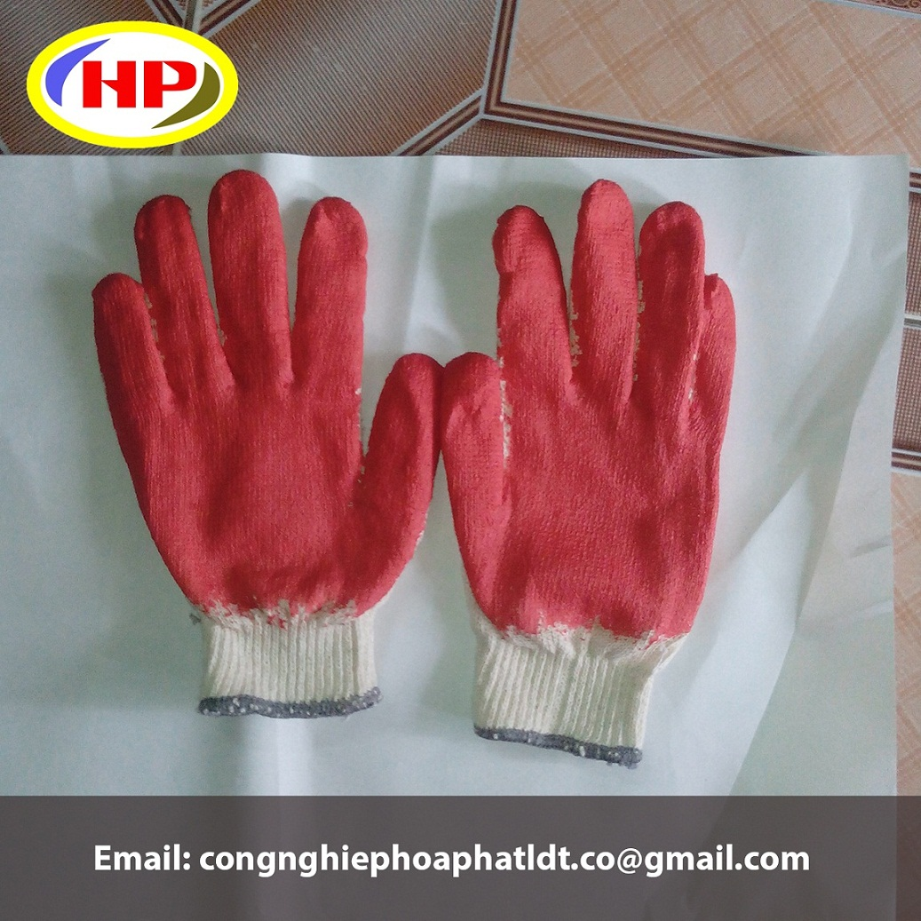 Găng tay phủ nhựa PVC