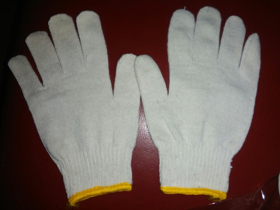 gang tay cotton trang