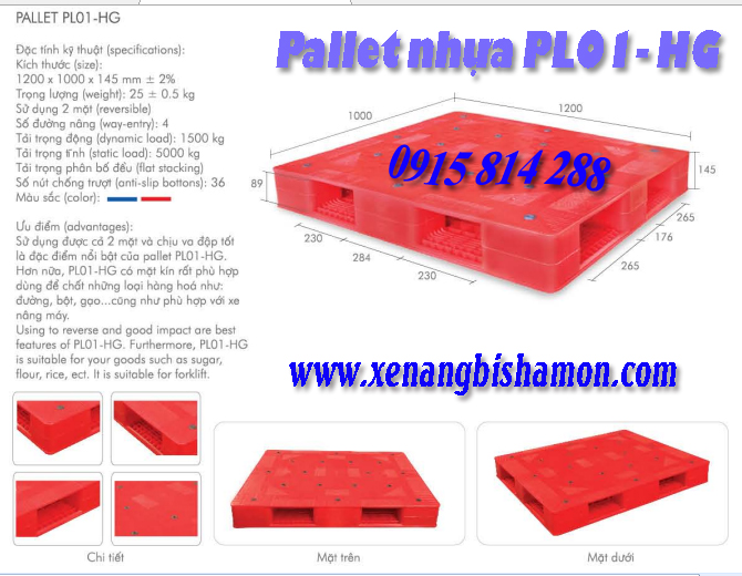 Pallet nhựa PL01HG