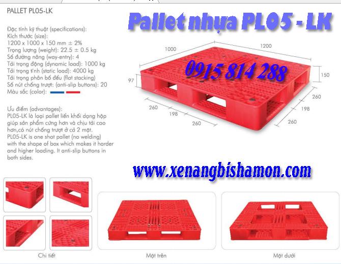 Pallet nhựa pl05lk