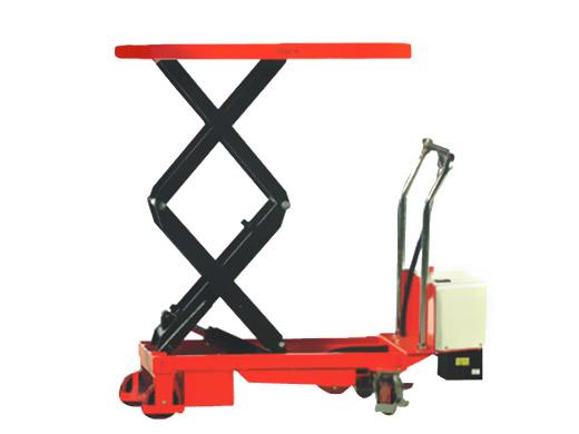 Xe nâng bàn 350kg nâng cao 1300mm sử dụng điện ắc quy