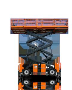 thang nâng người kiểu trục X cao 12 mét hiệu ATN - Pháp