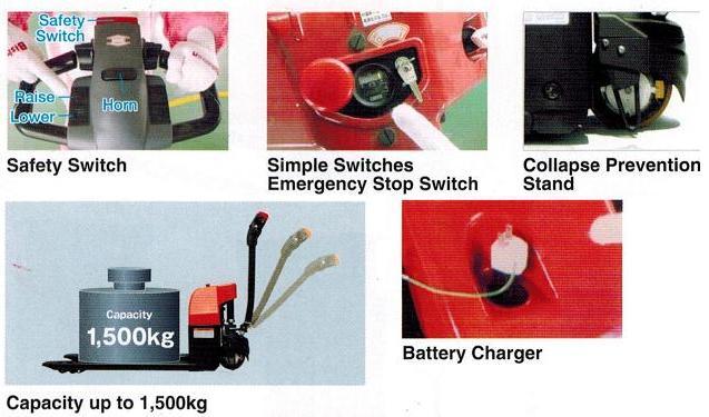 Xe nâng tay điện BDH15