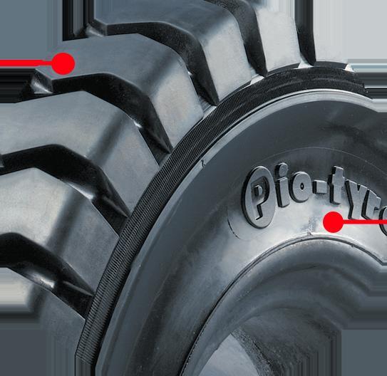 bánh xe nâng không tì vết