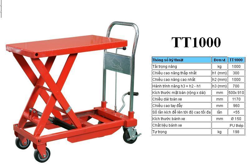 xe nâng mặt bàn TT1000