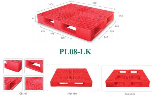Pallet nhựa mới Pl08-lk