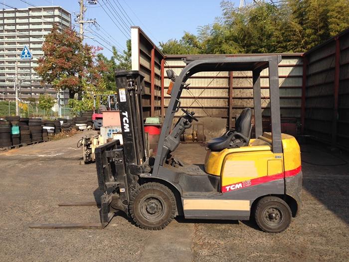 Xe nâng đông cơ dầu TCM 1.5 tấn nâng cao 3 mét