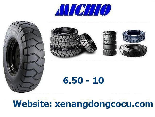 lốp xe nâng MICHIO Thái  kích thước 6.50 - 10