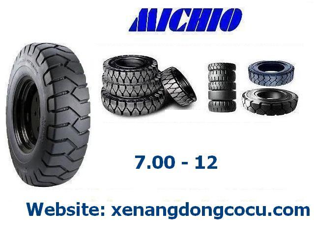 lốp xe nâng đặc loại MICHO Thái Lan 7.00 - 9