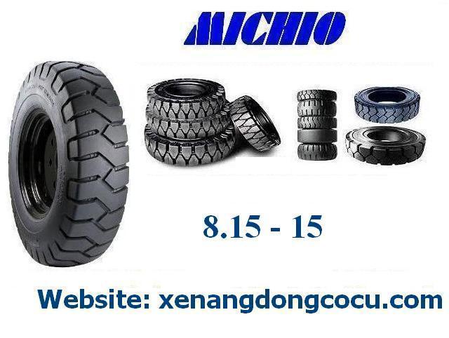 lốp đặc xe nâng MICHIO kích thước 8.15 - 15