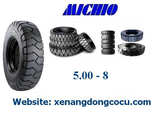 lốp xe nâng đặc Michio - Thái Lan 5.00 - 8