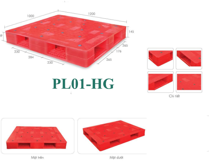 Pallet nhựa PL01-HG