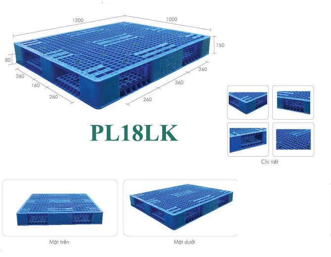 Pallet nhựa model PL18LK