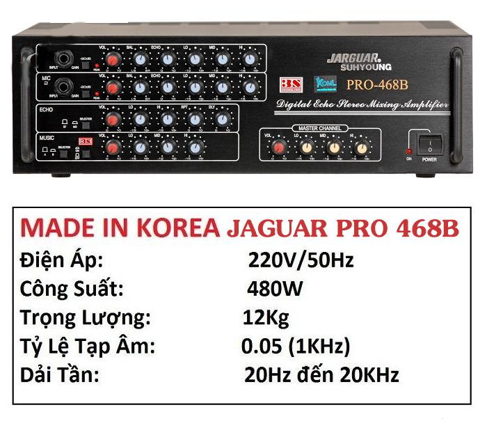 Ampli karaoke Jarguar 468B