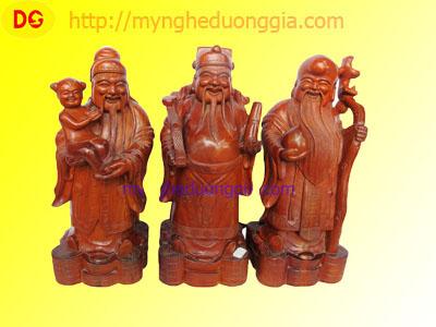 Tượng gỗ Phúc Lộc Thọ- gỗ hương